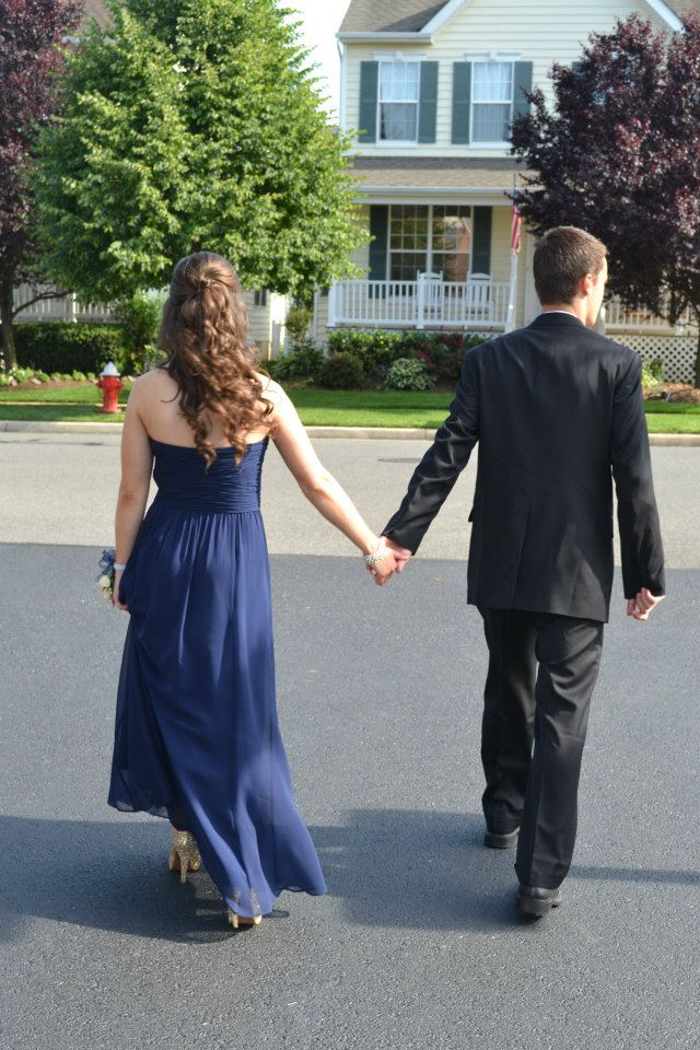 Prom holding hands