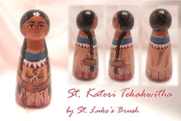 St Kateri giveaway piece