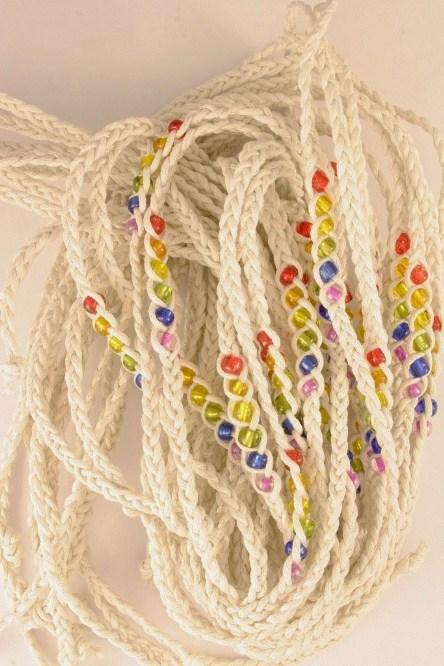 WBT10018 Rainbow Wrap Bracelet-White